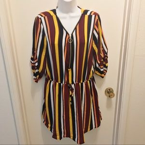 J FOR JUSTIFY Colorful Striped Dress M BNWT